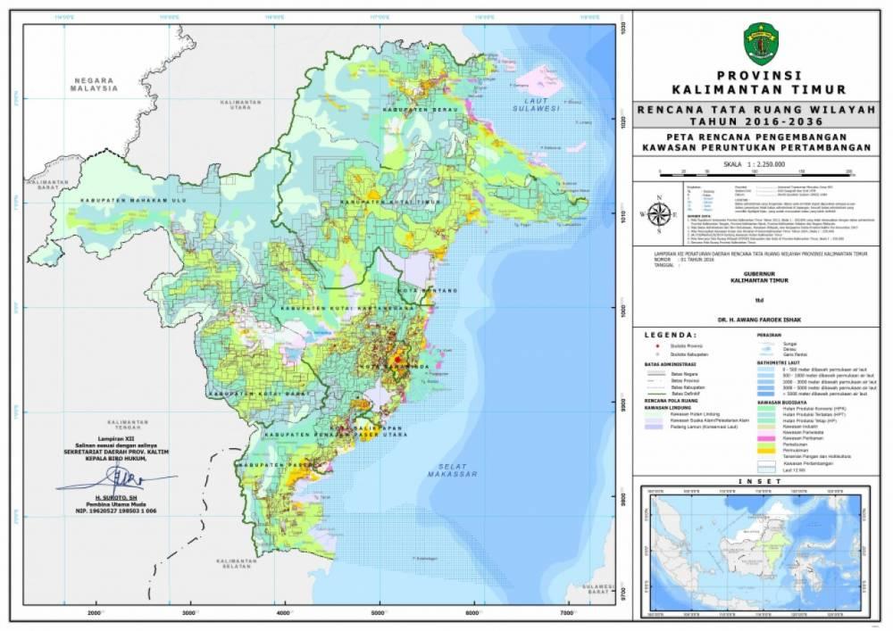 Peta Rencana Kawasan Peruntukan Pertambangan