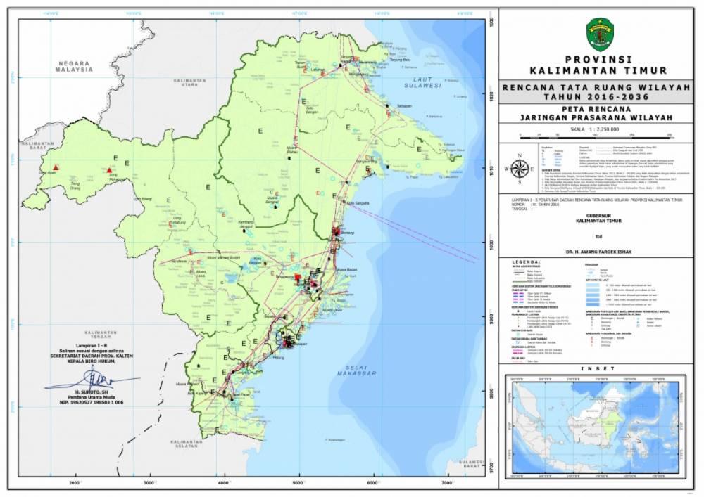 Peta Rencana Jaringan Prasarana Wilayah