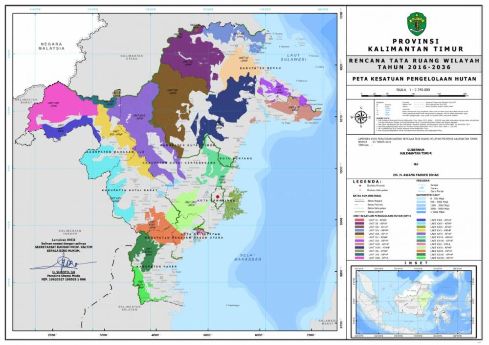 Peta Kesatuan Pengelolaan Hutan