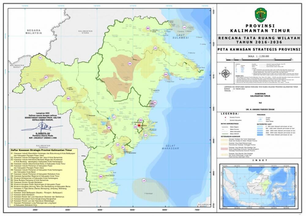 Peta Kawasan Strategis Provinsi