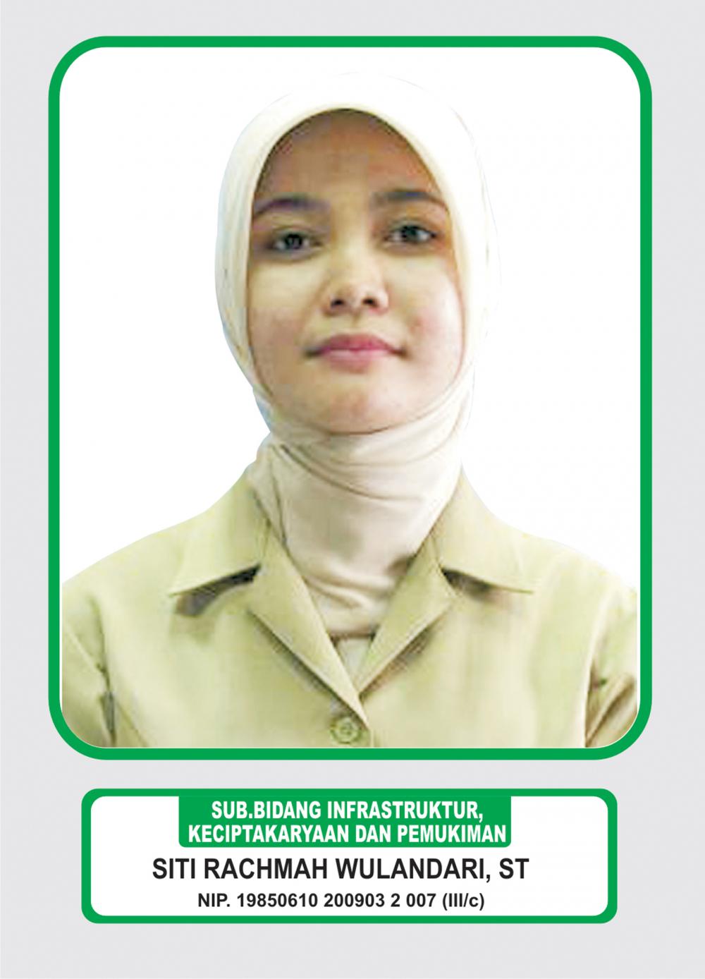 Foto Siti Rachmah Wulandari, ST